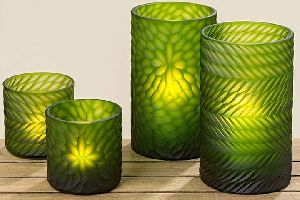 Double Layered Glass Tea Light Holders