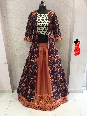 Designer Wear, Long Gown Type kurtis