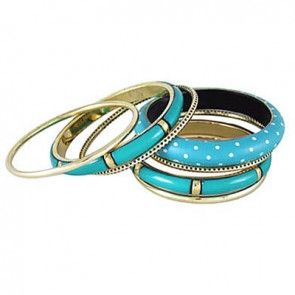 Blue Victorian Bangle Set