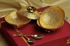 Brass Gold Plated Bowls Gift Set