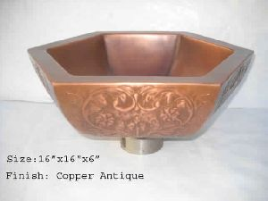 ELEGANT COPPER WASH BASIN