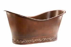 Hammered Premier Copper Bathtub