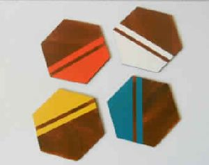 HEXAGON WOOD COASTERS