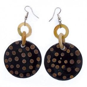 POLKA DOT HORN EARRINGS