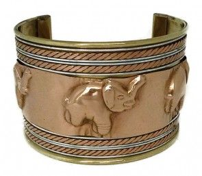 RAISED ELEPHANT CUFF BRACELET