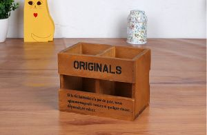 UNIQUE STYLE WOODEN OFFICE TABLE STORAGE BOX