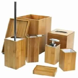 Wooden 8 Piece Bathroom Set