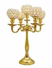 YES HAND MADE GOLD WEDDING TABLE CANDELABRA