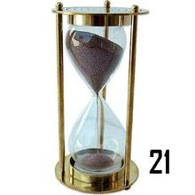 Brass Collectible sand timer 5 Minutes