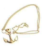 Nautical Anchor Brass Pendant with chain