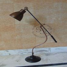 Nautical Antique Brass lamp with Base Stand