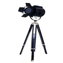 Nautical Black search light with black stand