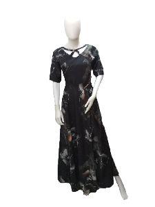 Ladies V Neck Umbrella Gown