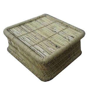 Square Bamboo Mudda Stool