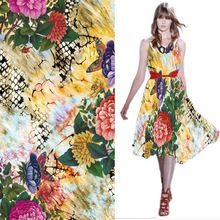 Custom made digital Print fashion fabric