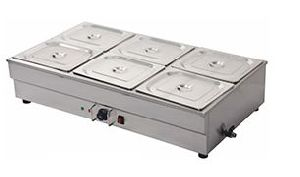 6 Pan Bain Marie Table Top