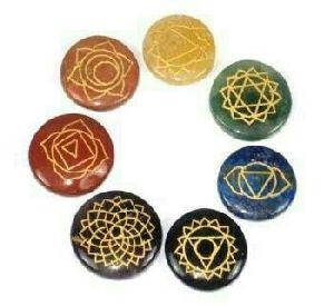 7 Chakra Engraved Reiki Set