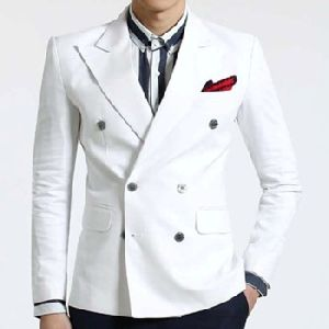 White Double Breasted Jacket