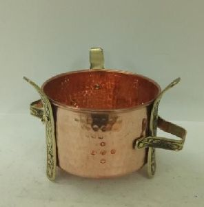Copper Brass Hammered Warmer Tawa