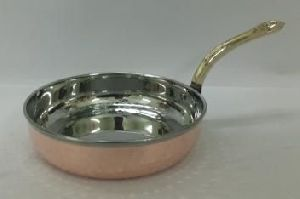 Copper Steel W/O Lid Hammered Frying Pan