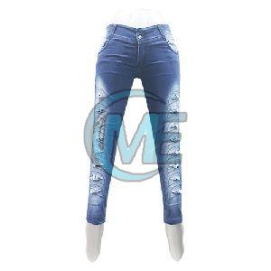 Ladies Damage Jeans