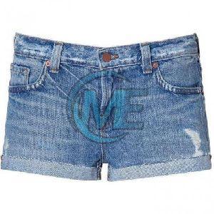Ladies Denim Hot Pant