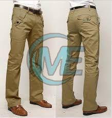 Mens Green Cotton Trouser
