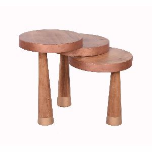 Pine Round Stool Detachable legs