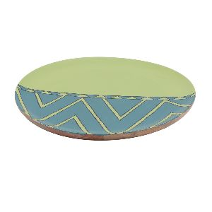 Printed Resin Mango Wood Serving Plate