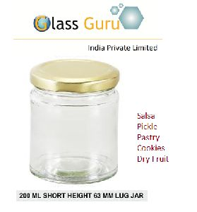 200ml Lug Glass Jar