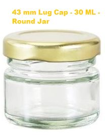 30ml Lug Glass Jar