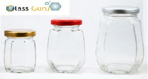 Crown Honey Glass Jar