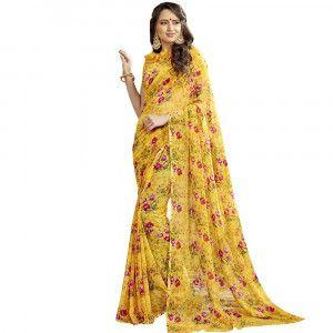 Floral Printed Sarees