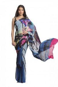 Multicolored Printed Sarees