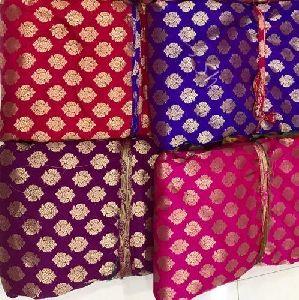 Printed Banarasi Jacquard Fabric