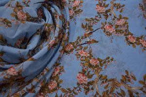 Printed Cotton Crepe Fabric