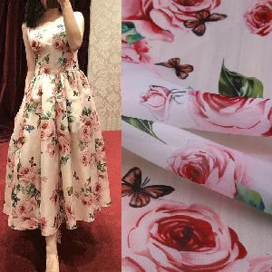 Printed Organza Fabric