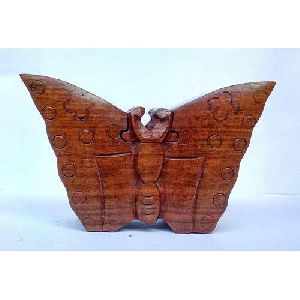 Wooden Butterfly Shaped Puzzle Box