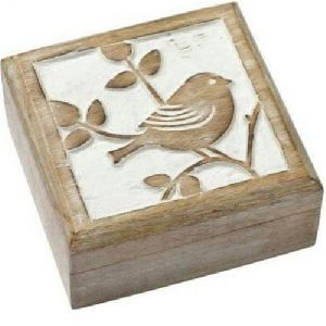 Wooden Decorative Square Box