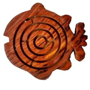 Wooden Fish Shaped Maze Game