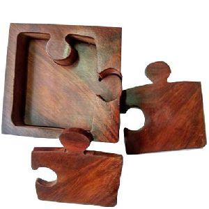 Wooden Jigsaw Coaster