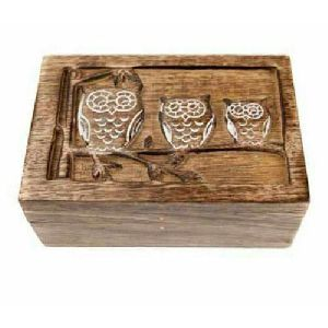 Wooden Rectangle Owl Box