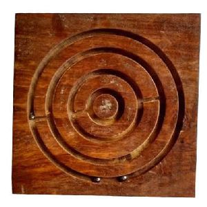 Wooden Square Maze Game
