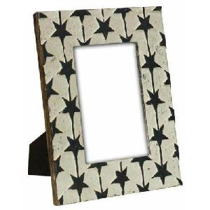 Wooden Star Design Photo Frame