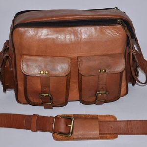 Annu Exports Real Genuine Goat Leather Camera Bag Vintage Style