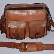 Goat leather camera bag
