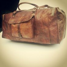 Goat Leather Luggage Bag