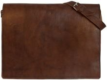 Real Leather Messenger Bag