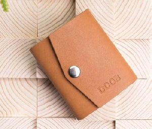 vintage leather wallet card holder