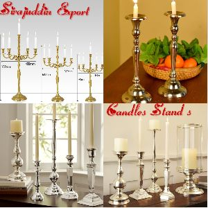 Brass Aluminum Candle Stand 02